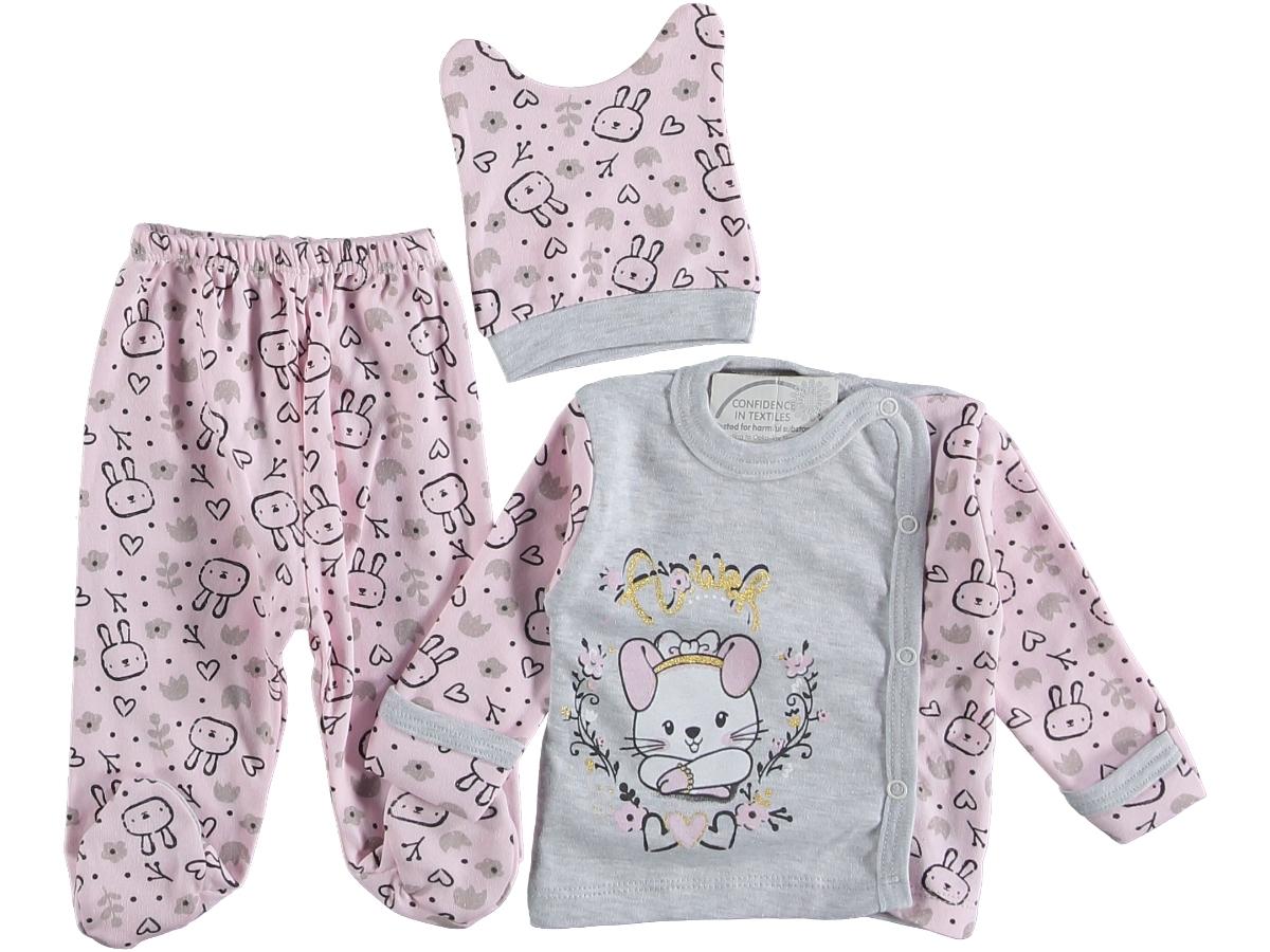 Комплект на малышку 3 пред. 0-3 мес розовый 308451